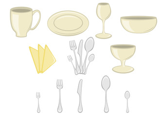 Kitchenware design elements