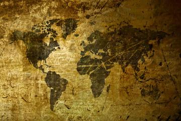 art World Map grunge