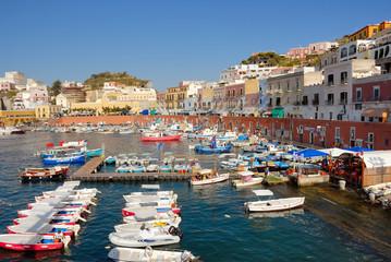 Italy ponza island harbour