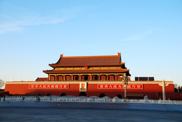 Foto auf Leinwand Beijing Tiananmen Gate Of Heavenly Peace in Beijing, China
