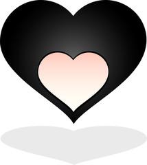 cuore nero con buco
