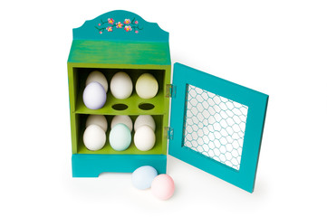 colorful easter egg holder