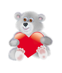 In love bear-cub