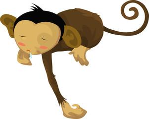 Sleepy monkey