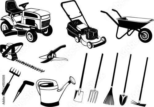 jardinage fichier vectoriel libre de droits sur la banque d 39 images image 11135838. Black Bedroom Furniture Sets. Home Design Ideas