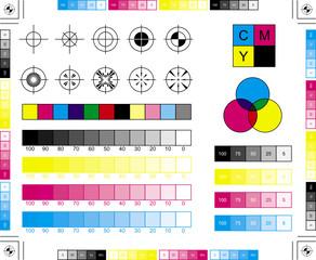 CMYK Printing Elements / Printing Marks
