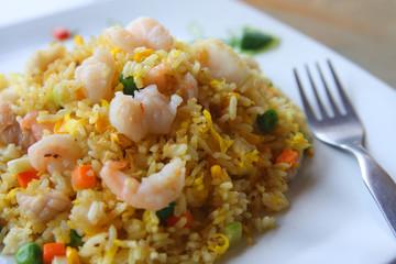 Asian food series: Seafood fried rice