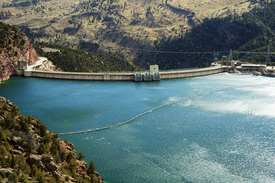 Flaming Gorge Reservoir and Dam