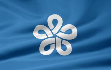 Flagge von Fukuoka - Japan