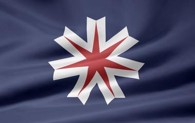 Flagge von Hokkaido - Japan