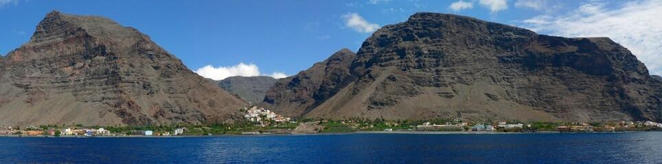 Panorama: Valle Gran Rey, La Gomera (Kanaren)