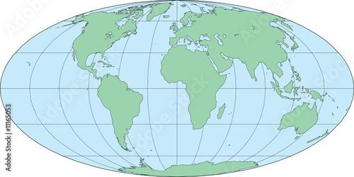 Mollweide world map africa centered vector illustration stock image mollweide world map africa centered vector illustration gumiabroncs Image collections