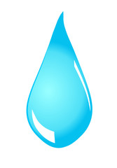 Water drop on white background  , vector