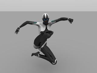 cyborg female kick