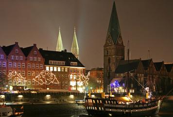 An der Schlachte in Bremen, Weihnachtszeit