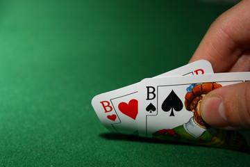 Poker, pair boys