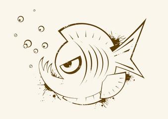 piranha fisch logo