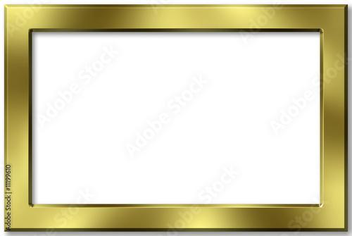 Marco dorado liso fotos de archivo e im genes libres de - Marcos dorados para cuadros ...