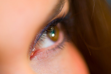 Female eye closeup