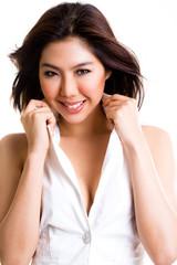 stylish asian young woman
