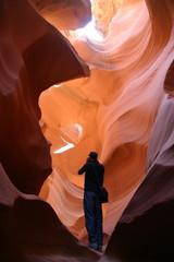 Tourist im Lower Antelope Canyon, Arizona - USA