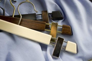 Group of luxury wooden hanger