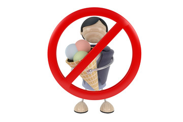 Sign no ice cream