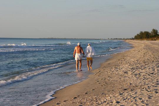 Lovers on the Beach in Captiva Island, Florida