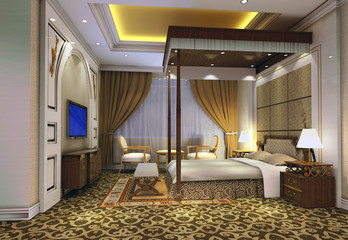 3d bedroom rendering 3