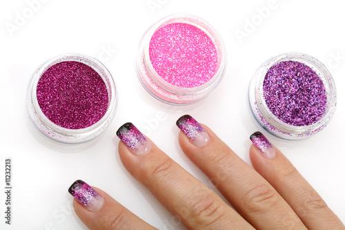 Фото дизайн ногтей блеском