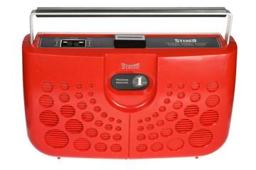 Red Retro 8 Track Boombox