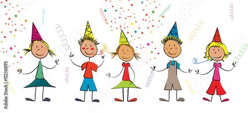 Enfants f te confettis photo libre de droits sur la banque d 39 images image 11236895 - Kermesse dessin ...