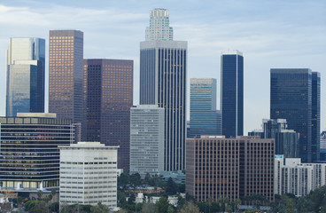 Fotomurales - Daytime View of Los Angeles Skyline
