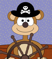 Captain Monkey at the Helm