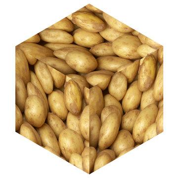 un cube de pommes de terre