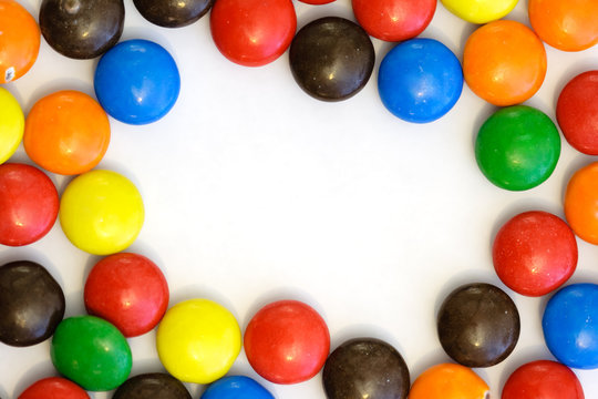 colorful candy border - horizontal