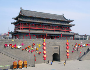 Photo sur Plexiglas Xian Xian City Wall and Gate in China.