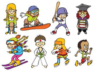 Sport kids character
