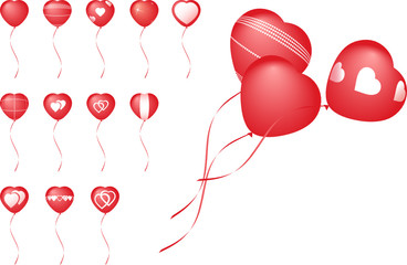 Balloons for valentine`s day