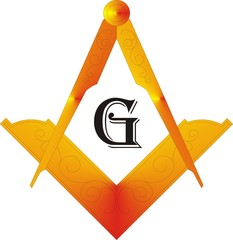 Masonic Square & Compass with letter G
