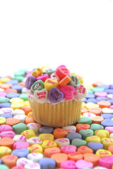Candy Heart Cupcake