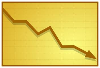 Obraz Business graph B - fototapety do salonu