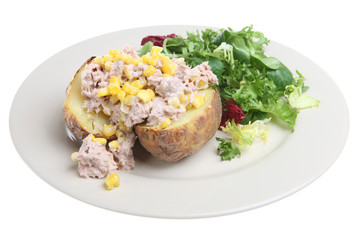 Jacket Potato with Tuna and Corn