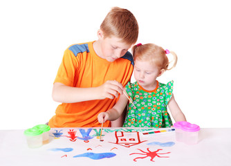 children with drawing