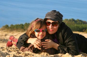 câlin sur la dune du Pilat