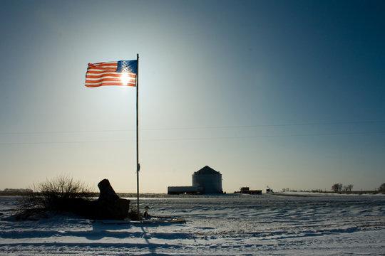 American Flag Proud Farm