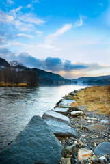 Fototapete - Nature scene from Norway