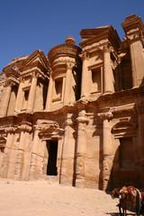monastery of rock city Petra in Jordan