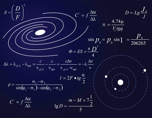 Galaxy and planets