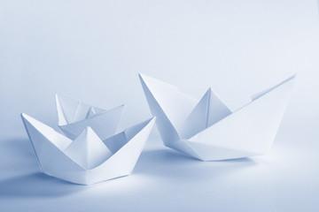 Blue Paper boat